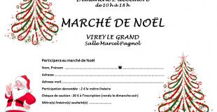 Marché de Noël 2018 de Virey-le-Grand (71)