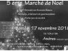 5e marché de Noël de l'Amicale les Sources Bleues à Andres (62)