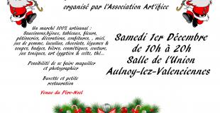 Marché de Noël 2018 à Aulnoy-lez-Valenciennes (59)